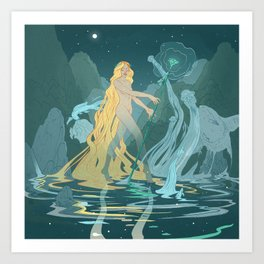 Nymph of the river Art Print