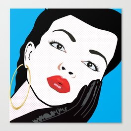 Beautiful Pop Art Woman Portrait Canvas Print