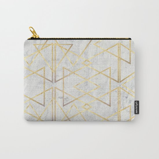wire gOld triangle Carry-All Pouch