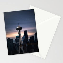 Space Needle Sunset - Seattle Nights Stationery Cards