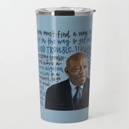 John Lewis Black Lives Matter, Civil Rights Travel Mug