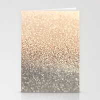 gold glitter Stationery Cards featuring  GOLD by Monika Strigel