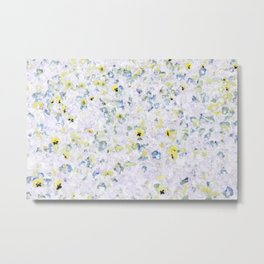 Pansy Field Floral Pattern V Metal Print