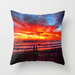 Flaming Sky * Costa Rica Throw Pillow