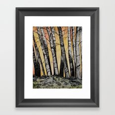 Row of Trees Framed Art Print