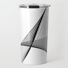 """""""Linear Collection"""" - Minimal Letter A Print Travel Mug"""