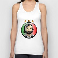 pirlo Tank Tops featuring Maestro  by Miguel Angel Illustrations