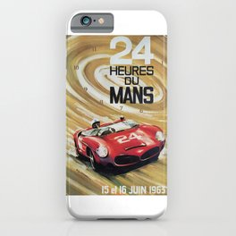 1963 Le Mans poster, Race poster, car poster, garage poster iPhone Case