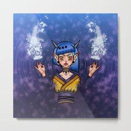 Water Demon Girl Metal Print