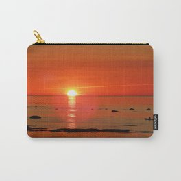 Kayaker and the Setting Sun Carry-All Pouch