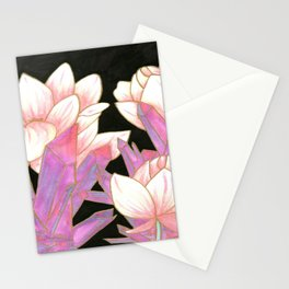 Lotus and Crystals Stationery Cards