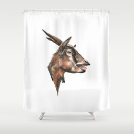 Salivating Goat Shower Curtain