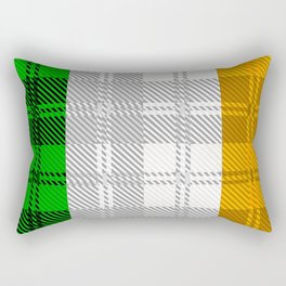 Irish Tartan Flag Rectangular Pillow