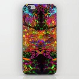 Black Fire Alien Heads iPhone Skin