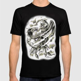 Dragon Phoenix Tattoo Art Print T-shirt