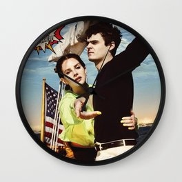 lana del ray norman rockwell 2020 tour again Wall Clock