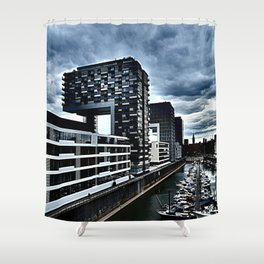 Harbor_Cologne_Germany Shower Curtain
