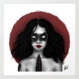 Dark Celestial Body Art Print