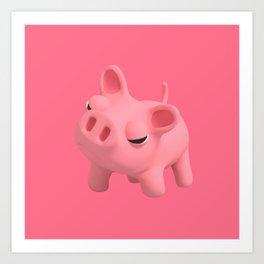 Rosa the Pig Angry Art Print
