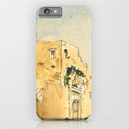 "Eugène Delacroix ""A Moroccan building"" iPhone Case"