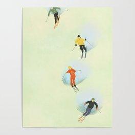 Skiing at High Speeds Poster