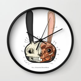 Visible Floating BunnyHead Wall Clock