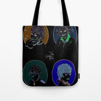 golden girls Tote Bags featuring I Heart the Golden Girls Print by Jackie Thomson
