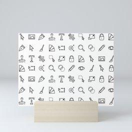 Designer Icons - White Mini Art Print