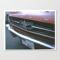 mustang Canvas Prints featuring Mustang by IAMREBEL