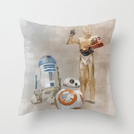 The Droids You're Looking For Throw Pillow