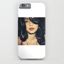 British singer Digitally grained close up photo. For music lovers. iPhone Case