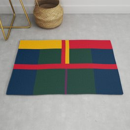 vintage, pattern, primary, colors, Rug