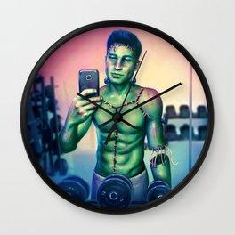 Frankenstein's Selfie Wall Clock