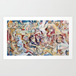 That College Party Art Print