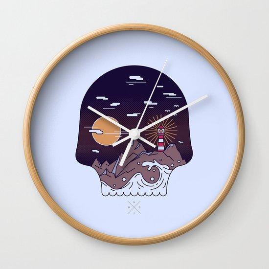 Skull Pier Wall Clock