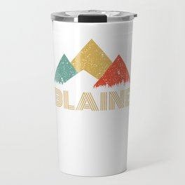Retro City of Blaine Mountain Shirt Travel Mug