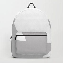 Grey and white Backpack