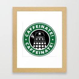 Dalek Caffeinate Framed Art Print