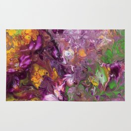 Abstract Floral Acrylic Painting Rug