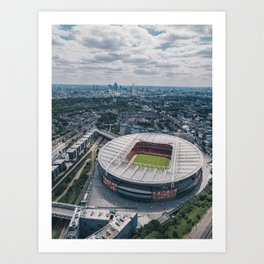 Emirates Stadium - Arsenal FC Art Print