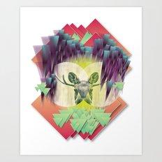 Neon Ritual Art Print
