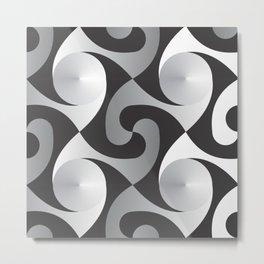 Monochrome Curves by Freddi Jr Metal Print