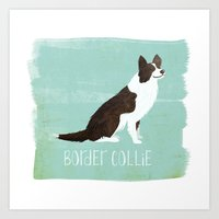 border collie Art Prints featuring Border Collie by 52 Dogs