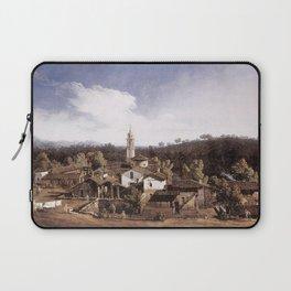 Bernardo Bellotto - View of Gazzada near Varese Laptop Sleeve