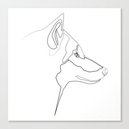 """"""" Animals Collection"""" - One Line Wolf Print Canvas Print"""