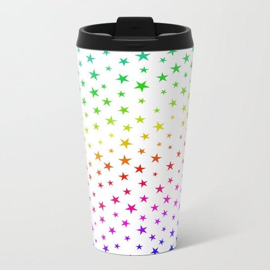 A Rainbow of Stars Metal Travel Mug