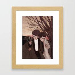 The detectives Framed Art Print