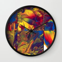 Paint Pouring 19 Wall Clock