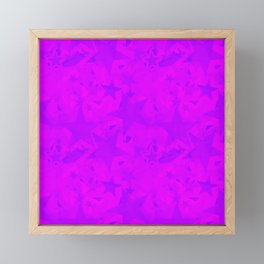 Calm intersecting blurred purple stars on a lilac background. Framed Mini Art Print