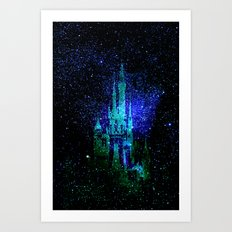 Dream castle. Fantasy Disney Art Print